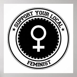 Apoye a su feminista local impresiones