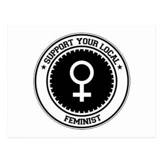 Apoye a su feminista local tarjetas postales