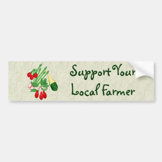 Apoye a su granjero local etiqueta de parachoque