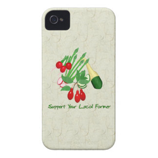 Apoye a su granjero local iPhone 4 Case-Mate fundas