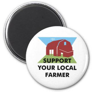 Apoye a su granjero local imán para frigorifico