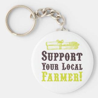 ¡Apoye a su granjero local! Llavero