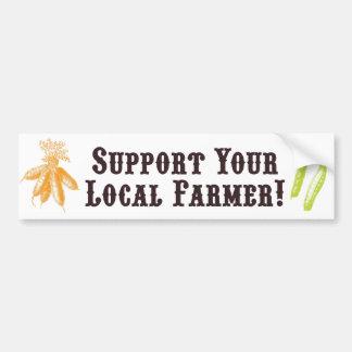 ¡Apoye a su granjero local! Pegatina para el parac Pegatina Para Auto