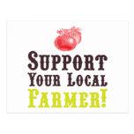 ¡Apoye a su granjero local! Postal
