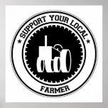 Apoye a su granjero local poster