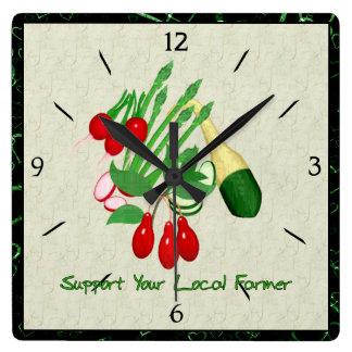 Apoye a su granjero local relojes de pared