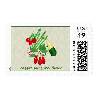 Apoye a su granjero local sellos postales