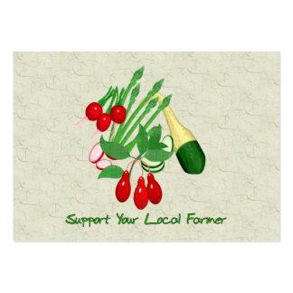 Apoye a su granjero local tarjetas de visita grandes