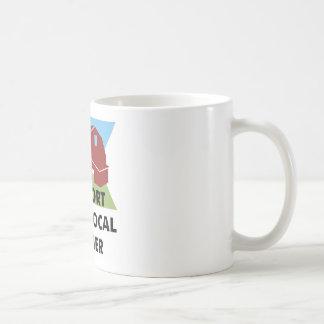 Apoye a su granjero local taza de café