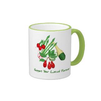 Apoye a su granjero local taza de dos colores