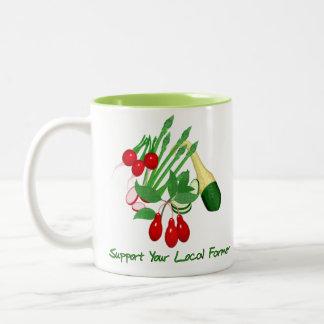 Apoye a su granjero local taza de dos tonos