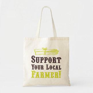 ¡Apoye a su granjero local! Tote Bolsa Tela Barata