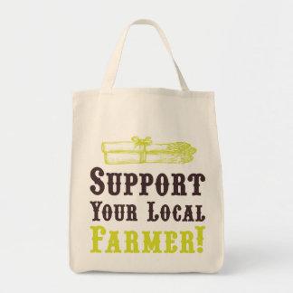 ¡Apoye a su granjero local! Tote orgánico Bolsa Tela Para La Compra