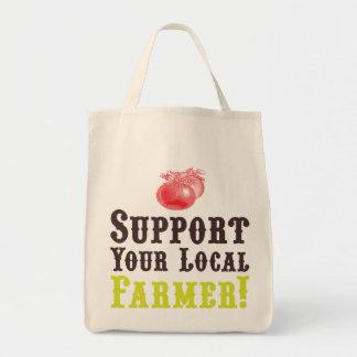 ¡Apoye a su granjero local! Tote orgánico Bolsa Lienzo