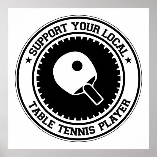 Apoye a su jugador de tenis de mesa local posters