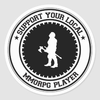 Apoye a su jugador local de MMORPG Pegatinas Redondas