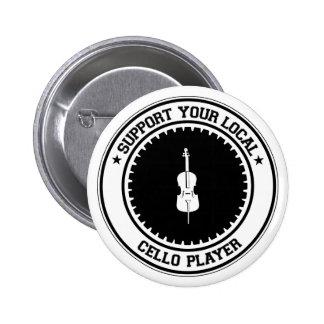 Apoye a su jugador local del violoncelo pin