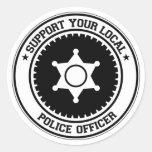Apoye a su oficial de policía local etiquetas