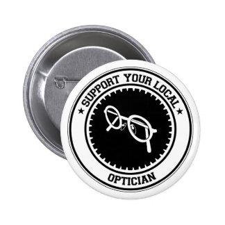 Apoye a su óptico local pin