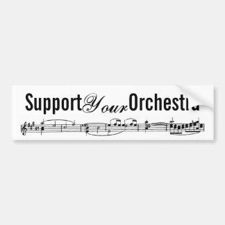 Apoye a su orquesta pegatina de parachoque