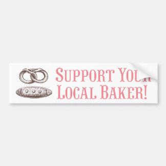 ¡Apoye a su panadero local! Pegatina para el parac Pegatina Para Auto