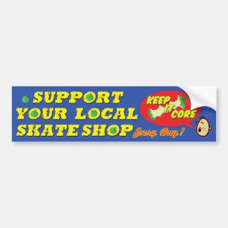Apoye a su pegatina para el parachoques local de S Pegatina De Parachoque