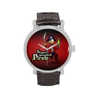 Apoye a su pirata local relojes de mano
