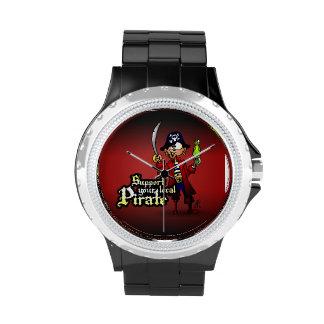 Apoye a su pirata local relojes de pulsera