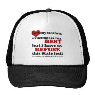 Apoye a su profesor. Apoye su escuela. Opte hacia Gorros Bordados