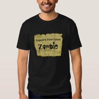 Apoye a su zombi local remera