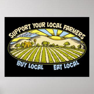 Apoye a sus granjeros locales póster