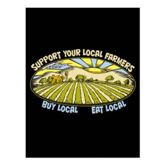 Apoye a sus granjeros locales tarjetas postales