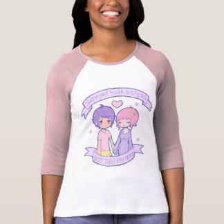 Apoye a sus hermanas 3 4 raglán de la manga camisetas
