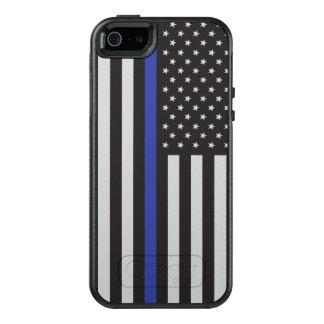 Apoye al americano fino de Blue Line de la policía Funda Otterbox Para iPhone 5/5s/SE