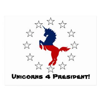Apoye al fiesta del unicornio: Unicornios para el Tarjetas Postales