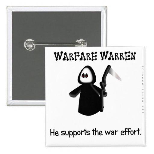 Apoye (conclusión) el esfuerzo de la guerra pin cuadrada 5 cm