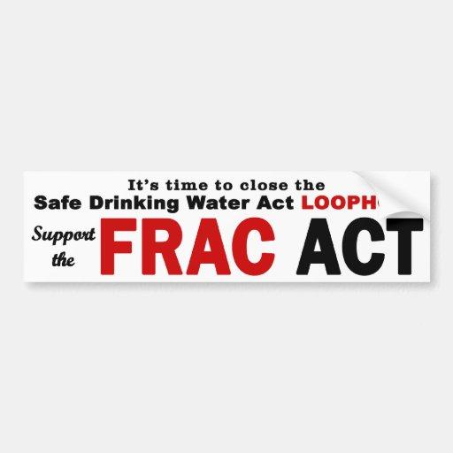 Apoye el acto de FRAC - pegatina para el parachoqu Pegatina Para Auto