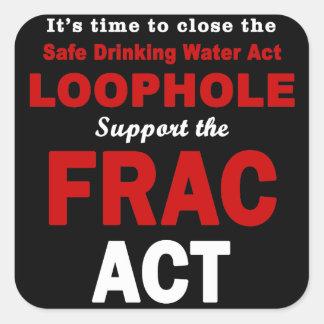 Apoye el acto de FRAC - pegatinas cuadrados Colcomanias Cuadradas