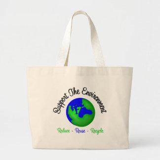 Apoye el ambiente reducen la reutilización recicla bolsa de mano