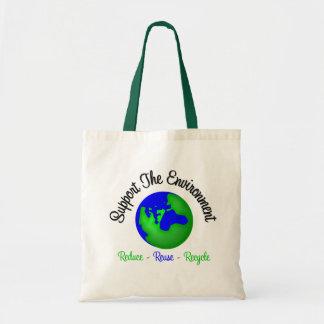 Apoye el ambiente reducen la reutilización recicla bolsa lienzo