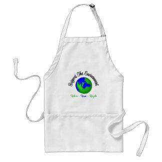 Apoye el ambiente reducen la reutilización recicla delantales