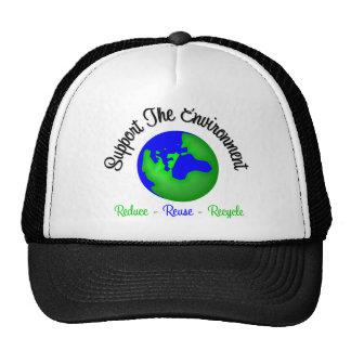 Apoye el ambiente reducen la reutilización recicla gorro