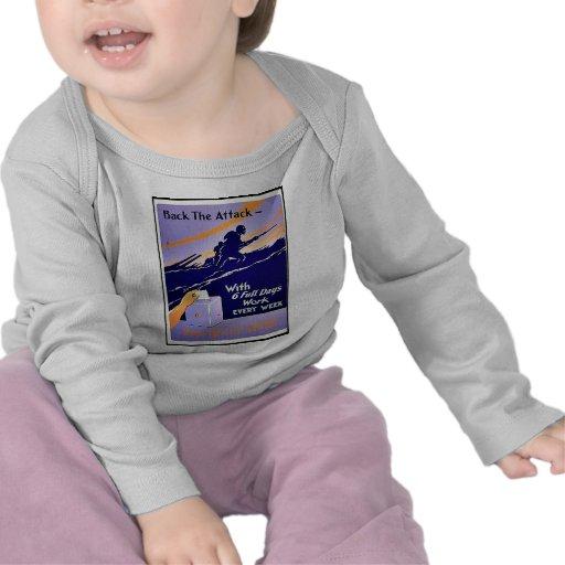 Apoye el ataque camiseta