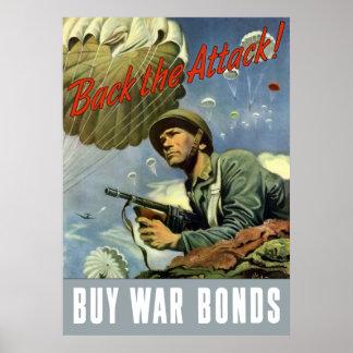 Apoye el ataque -- Compre enlaces de guerra Póster