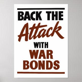 Apoye el ataque con los enlaces de guerra -- WW2 Póster