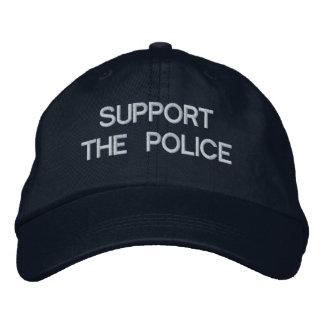 APOYE el casquillo de la POLICÍA por Gorra De Béisbol Bordada