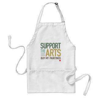 Apoye el delantal de los artes