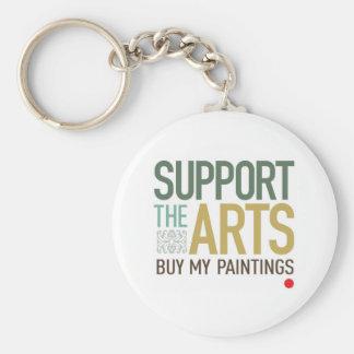 Apoye el llavero de los artes