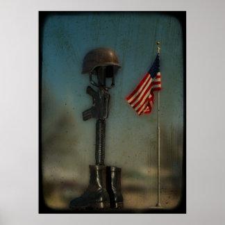Apoye el poster de las tropas