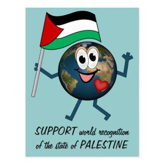 Apoye el reconocimiento del mundo del estado de tarjeta postal